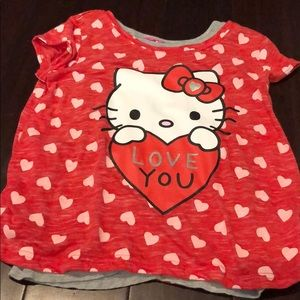 6dca11b9a Hello Kitty Shirts & Tops | Girls Pink Tshirt | Poshmark